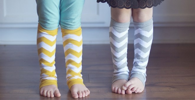 $3.75 | MUST HAVE BABY/KIDS CHEVRON LEG WARMERS