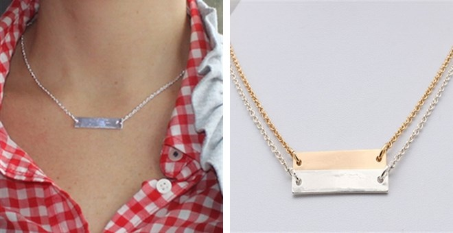 $3.99 | PERFECT DAINTY BAR NECKLACE – FLAT RATE SHIPPING