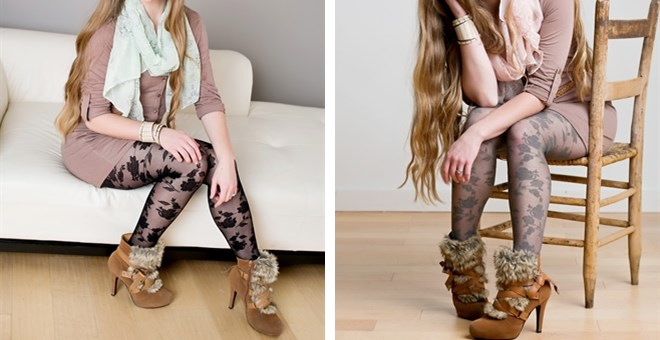 $6.99 | FALL FLORAL TIGHTS