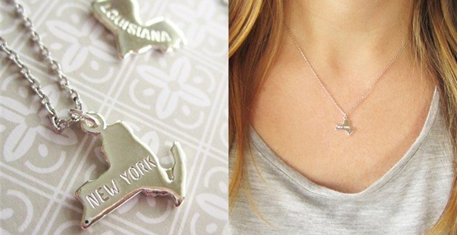 $11.99 | TINY GOLD OR SILVER STATE NECKLACE – ALL 50 STATES AVAILABLE