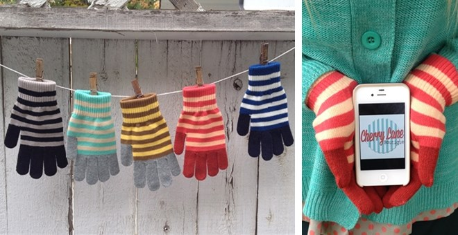 $5.99 | STRIPED TEXTING GLOVES | STOCKING STUFFER!!