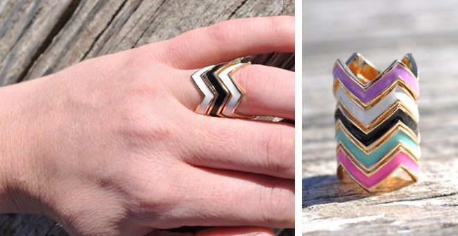 STACKABLE CHEVRON RING just $2...