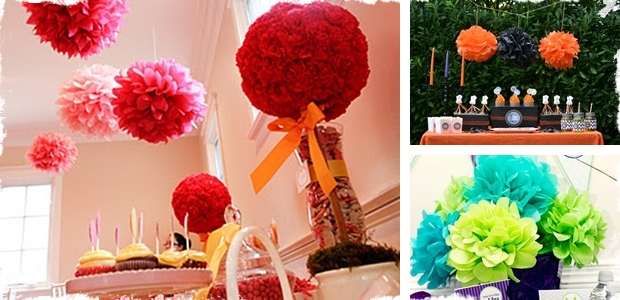 Extra Large Tissue Pom Flower - Choose From 21 Colors!!!