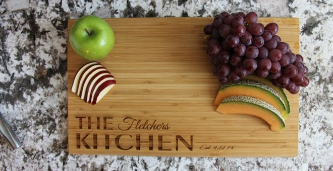 Extra Large 11x17 Personalized Cutting Board - 4 Designs!