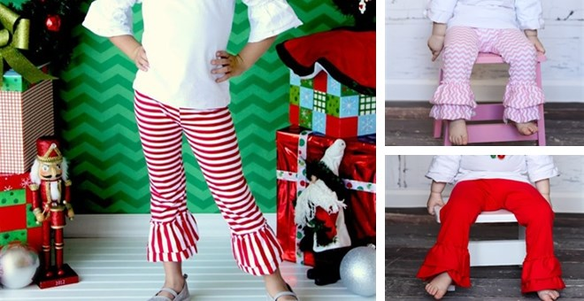 Ruffle Pants in Chevrons, Solids, Stripes & Quatrefoil!