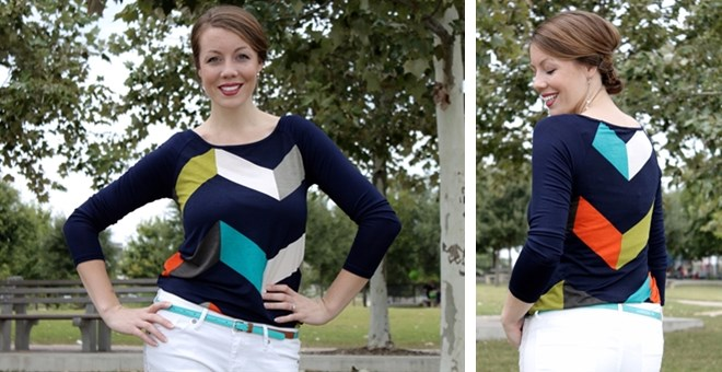 Chevron Colorblock Top! Small-3XL!