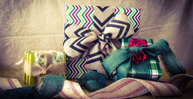 Burlap and Wired Ribbon
