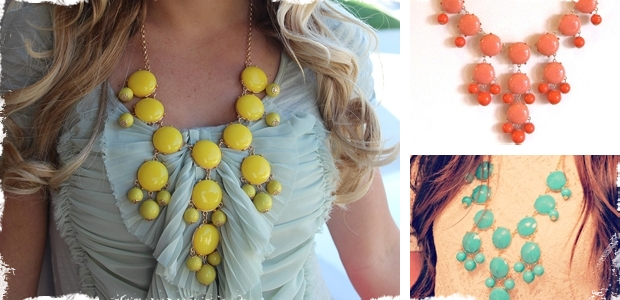 Gorgeous Bubble Necklaces with Gold & Silver Chains - 15 Colors Available!