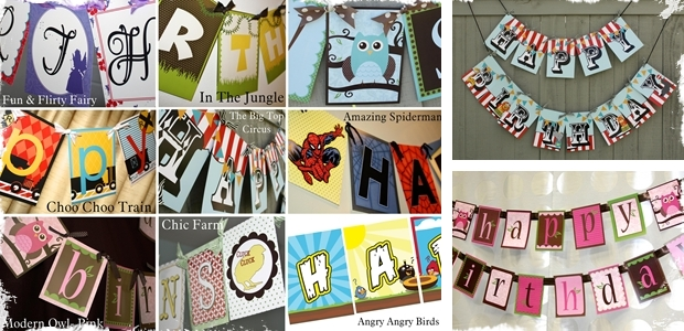 Happy Birthday Banners - 9 Options to Choose From! Great For Boys and Girls!