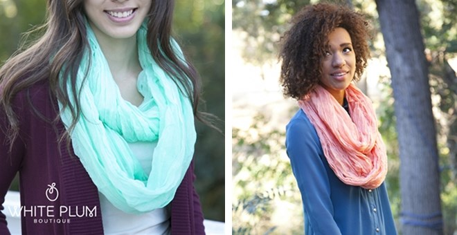 Camille Solid Infinity Scarf!