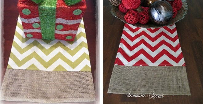 19.99 with runner HOT Burlap Runner  sizes!  Table Band  2 square Chevron table – BUY sizes