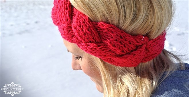 Winter Braided Headbands - 7 color options!