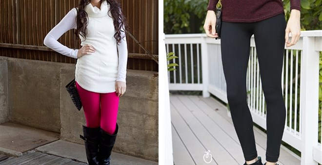High Waisted Zipper Fleece Leggings! 7 Colors Available!