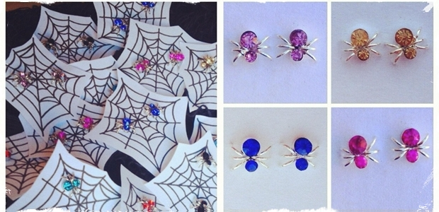 Halloween Spider Earrings for ALL Ages! - 8 Color Options!