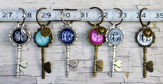 Monogrammed Key Chains!