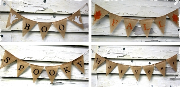 Fall & Halloween Burlap Banners - 5 Cute Options!