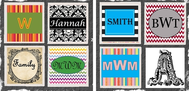 Monogrammed Family Coasters – Set of 4!