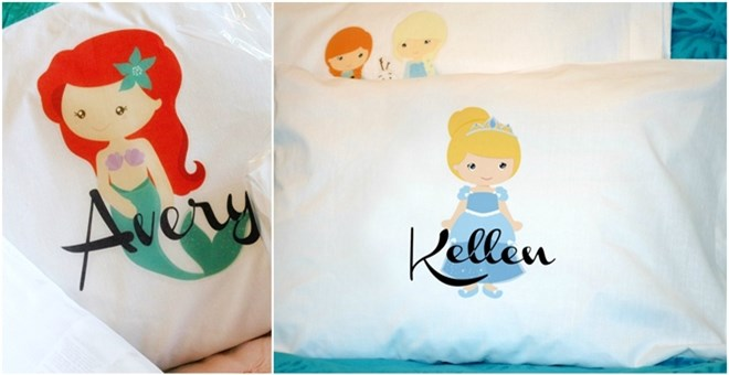 Personalized Princess Pillowcases - 19 Designs!