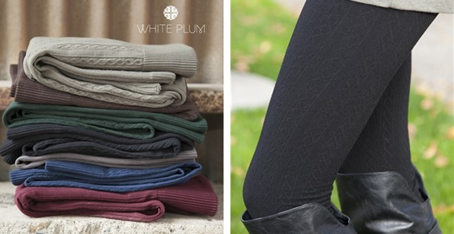 Cable Knit Fleece Leggings! 7 Color Options!