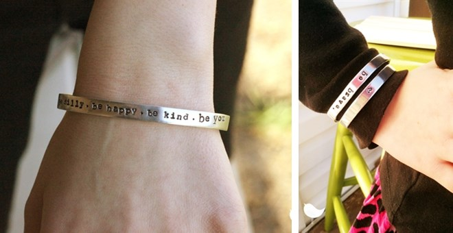 Child AND adult custom skinny cuff bangles, flat shipping rate