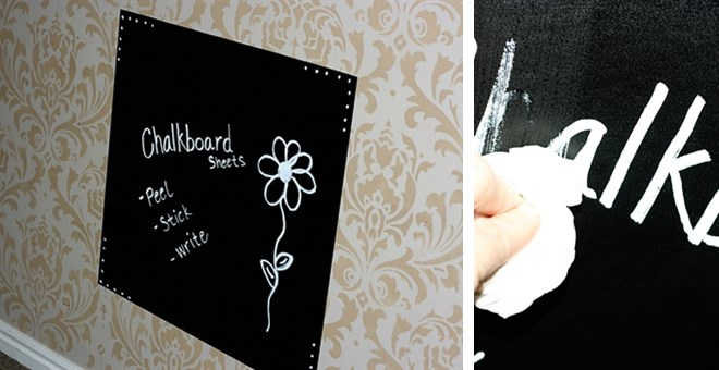 DIY PEEL & STICK CHALKBOARD SHEETS