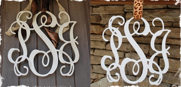 Beautiful 18 Inch 3-Letter Wooden Monogram!