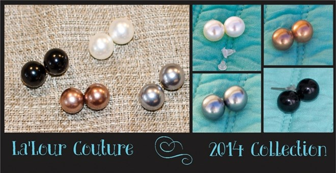 Modern Metallic Ball Stud Earrings
