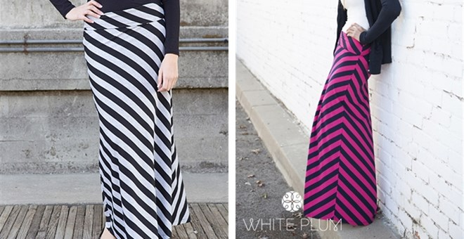 Striped Maxi Skirt! 3 Color Options!