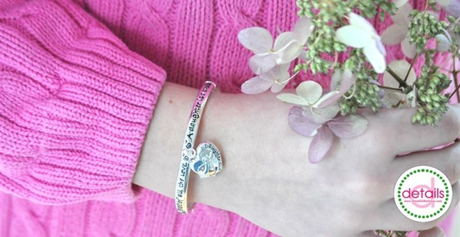 Handstamped Daughter is a Blessing Bracelet
