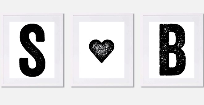 Monogram Prints - Set of 3