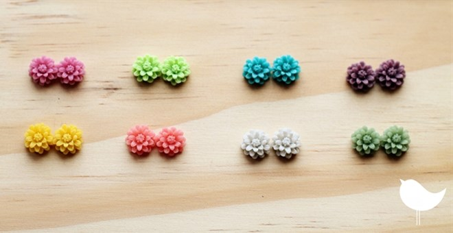 Fresh Colors - Cute Daisy Handmade Earrings - QUICK SHIP!