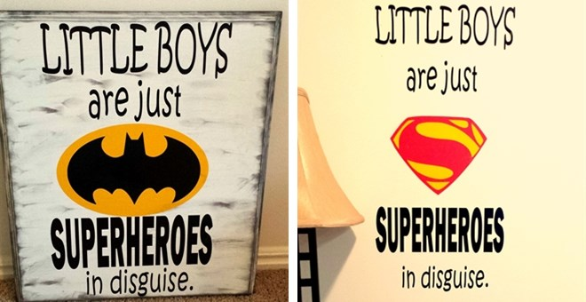 Boys Super Hero Vinyl