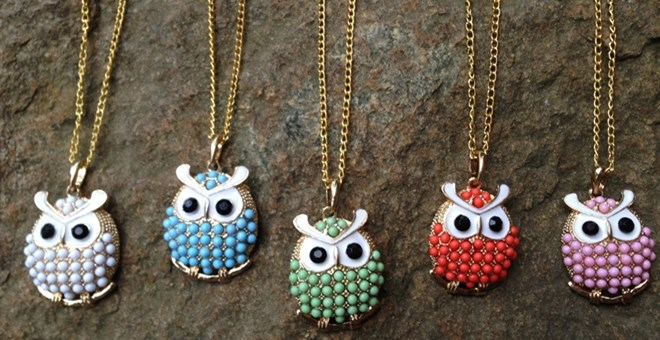 NEW! Who's Looking at YOU? Chic Owl Pearl Necklace in 5 Colors!