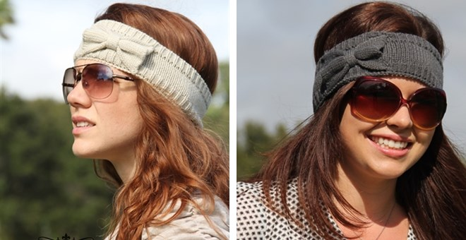Trendy Winter Bow Headbands in 5 Colors