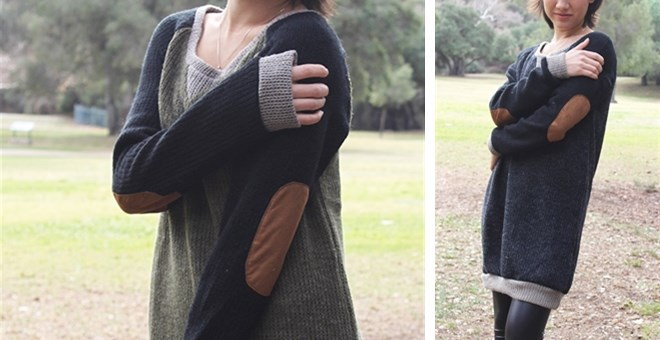 Patch Sweater Tunic