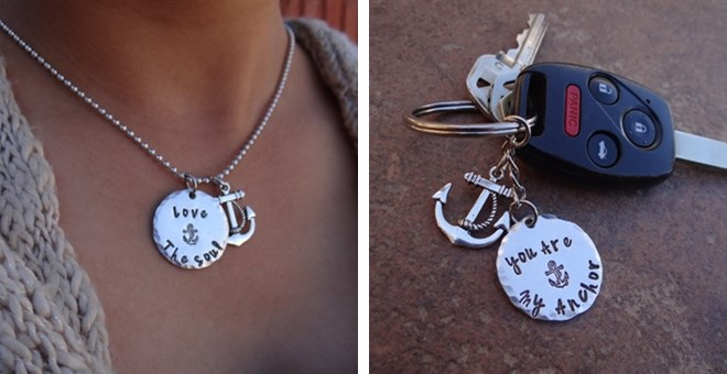 Inspirational Anchor Necklace or Key Chain