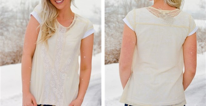 Elegant Salma Lace Detail Top
