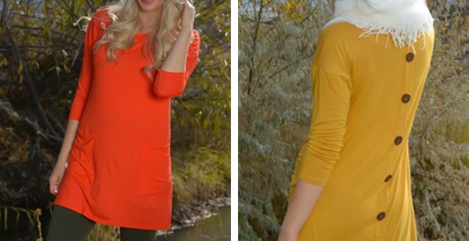 It's Back!! Quinn Button Back Tunic