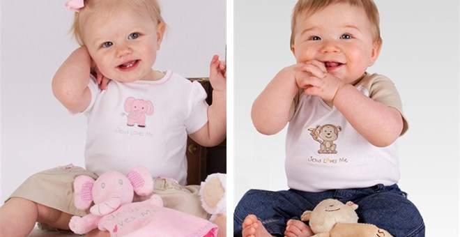 BODY SHIRT,BIB & LOVIE 3PC SETS-ELEPHANT AND MONKEY