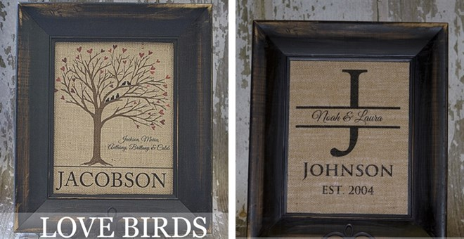 Back By Popular Demand! Personalized Burlap Wall Art!