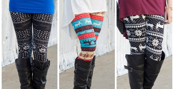 White Plum's Printed Fleece Leggings! 10 Styles Available!