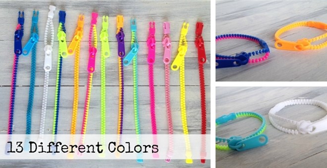 Kid's Zipper Bracelets!  Quick Ship!
