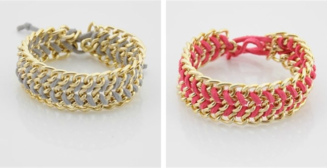 Chevron Chain Bracelets-9 Color Options