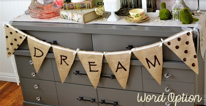 Handmade Burlap Banner with Ribbon – Many Styles Available
