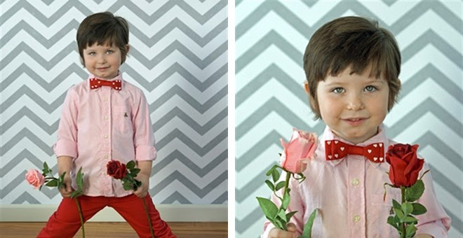 Valentine's Inspired Heart Bow Ties