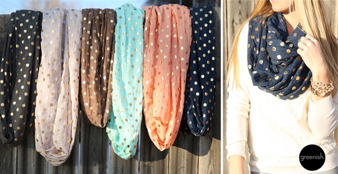 Feel Fancy Sparkle Scarves!