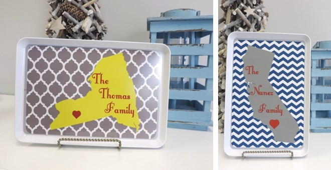 Personalized Melamine State Trays!!!