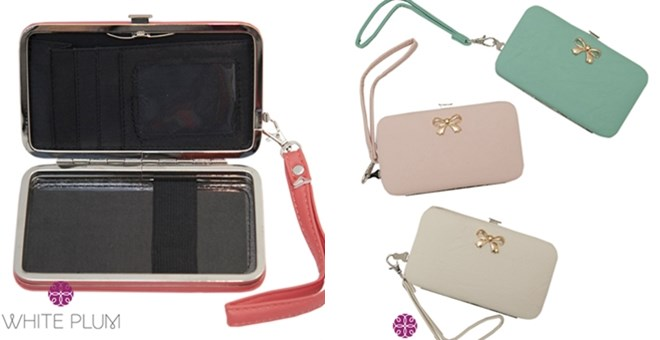 Bow Cell Phone Wallet Wristlets! 3 Color Options!