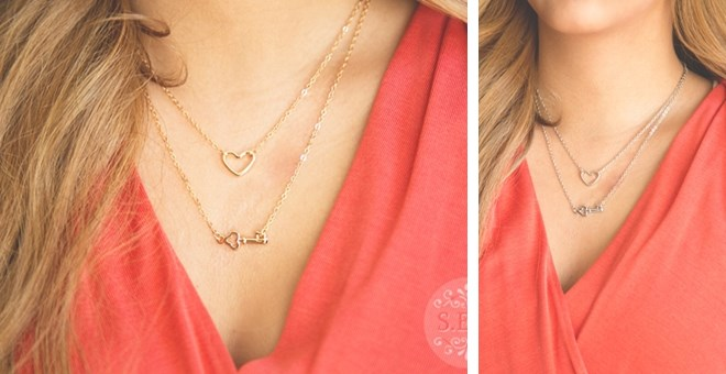 Beautiful Open Heart and Key Necklaces - Quick ship!