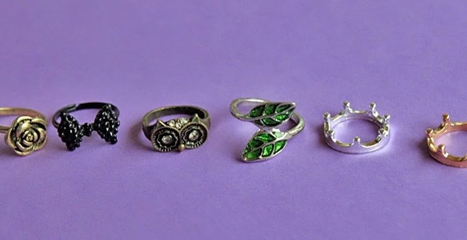 Rings Galore – several styles to choose from!